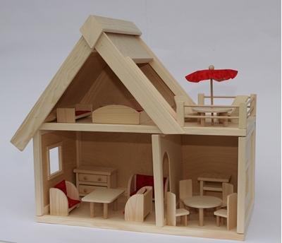 Obrázek z Velký dřevěný dům pro panenky