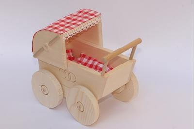 Obrázek z Dřevěný Kočárek pro panenky
