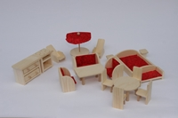 Obrázek Dřevěný nábytek pro panenky