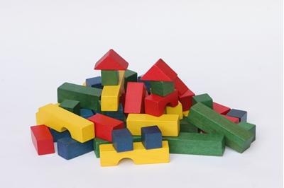 Obrázek z Dřevěné kostky 54 ks