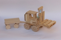 Obrázek Dřevěná desta s vlekem 46 cm