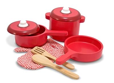 Obrázek z Melissa & Doug Dřevěné kuchyňské nádobí