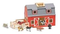 Obrázek Melissa & Doug Dřevěná stodola a stáje v kufříku