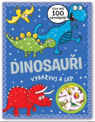 Obrázek z Dinosauři - vybarvuj a lep