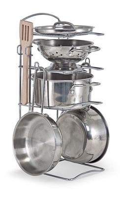 Obrázek z Melissa & Doug Velká dětská sada nerezového nádobí