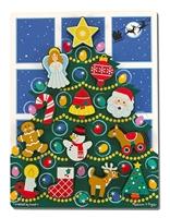 Obrázek Vánoční strom dřevěné puzzle Melissa & Doug