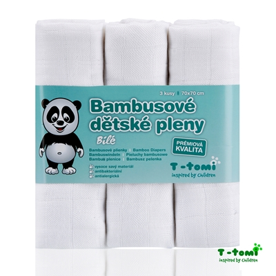 Obrázek z Bambusové pleny, bílá
