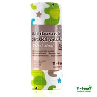 Obrázek Bambusová osuška, zelení sloni