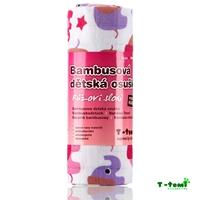 Obrázek Bambusová osuška, růžoví sloni