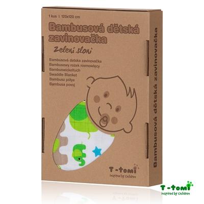 Obrázek z Bambusová zavinovačka, zelení sloni