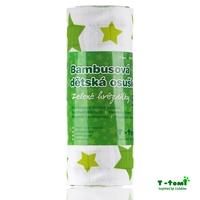 Obrázek Bambusová osuška, zelené hvězdičky