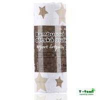 Obrázek Bambusová osuška, béžové hvězdičky