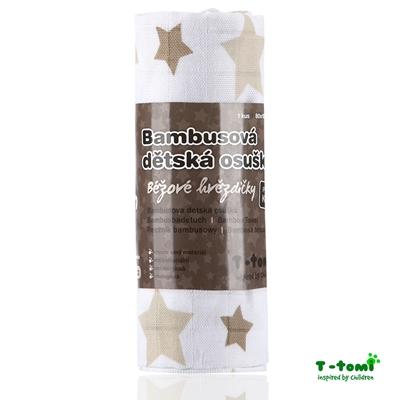 Obrázek z Bambusová osuška, béžové hvězdičky