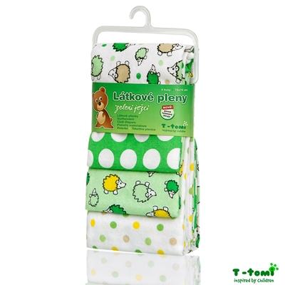 Obrázek z Látkové pleny, zelení ježci