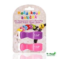 Obrázek Kočárkový kolíček, růžový + fialový