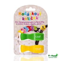 Obrázek Kočárkový kolíček, zelený + žlutý