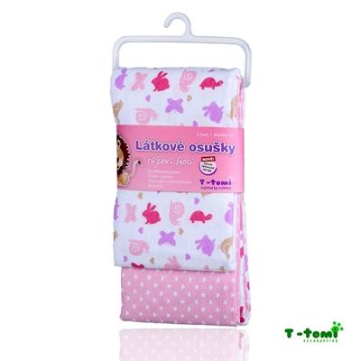 Obrázek z Látkové osušky, růžoví šneci - NOVINKA