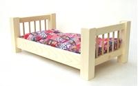 Obrázek Dřevěná postýlka pro panenky 55 cm