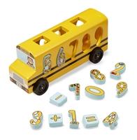 Obrázek Melissa & Doug Dřevěný Autobus s vkládacími čísly vkládacími čísly