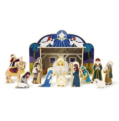 Obrázek z Dřevěný vánoční betlém Melissa & Doug