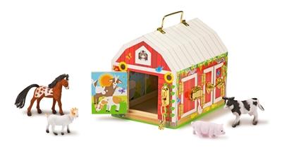 Obrázek z Dřevěná stodola se zámky a zvířátky Melissa & Doug