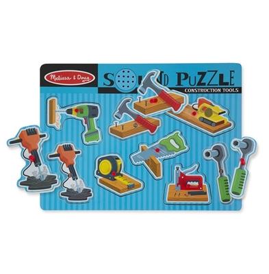 Obrázek z Dřevěné puzzle se zvukem nářadí Melissa & Doug
