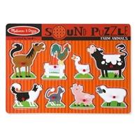 Obrázek Dřevěné puzzle se zvuky zvířátek z farmy Melissa & Doug