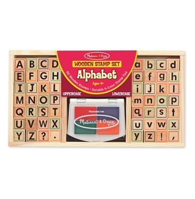 Obrázek z Melissa & Doug Dřevěná razítka abeceda
