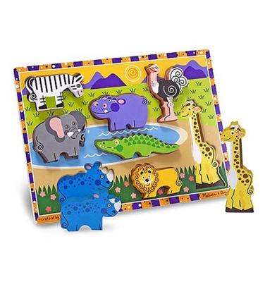 Obrázek z Melissa & Doug Dřevěné puzzle zvířátka v safari