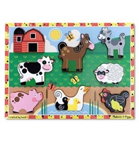 Obrázek Melissa & Doug Dřevěné puzzle zvířátka z farmy