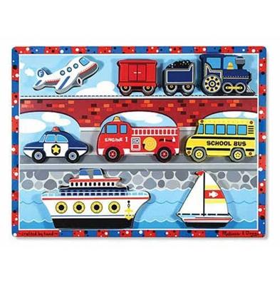 Obrázek z Melissa & Doug Dřevěné puzzle dopravní prostředky
