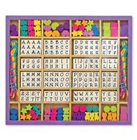Obrázek Dřevěné korále s abecedou Melissa & Doug