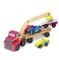 Obrázek Melissa & Doug Dřevěný magnetický přepravník pro auta