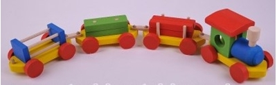 Obrázek z Dřevěný vláček barevný - olše II
