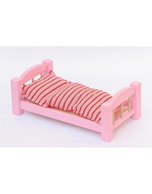 Obrázek z Dřevěná postýlka pro panenky 33 cm barevná