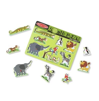Obrázek z Melissa & Doug Dřevěné puzzle se zvukem zvířat ze ZOO