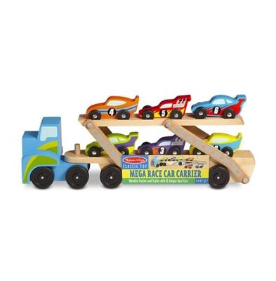 Obrázek z Melissa & Doug Dřevěný velký náklaďák na závodní auta