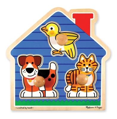 Obrázek z Melissa & Doug Dřevěné puzzle pro nejmenší - mazlíčci