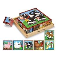 Obrázek Melissa & Doug Dřevěné kostky Farma