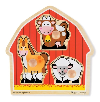Obrázek z Melissa & Doug Dřevěné puzzle pro nejmenší - zvířátka