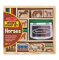 Obrázek Melissa & Doug dřevěná razítka koně
