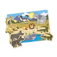 Obrázek Melissa & Doug Dřevěné puzzle - safari
