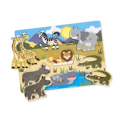 Obrázek z Melissa & Doug Dřevěné puzzle - safari