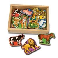 Obrázek Melissa & Doug - Dřevěná magnetická zvířátka 20 ks