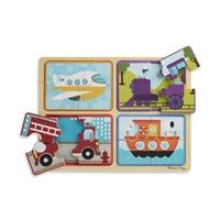 Obrázek Dřevěné puzzle na cestu Dopravní prostředky