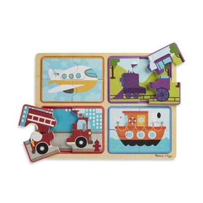 Obrázek z Dřevěné puzzle na cestu Dopravní prostředky