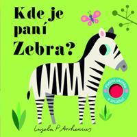 Obrázek Kde je paní Zebra? Plstěná okénka a zrcátko!